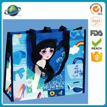 fashion plastic shopping coated non-woven bag