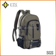 simple custom plain sport canvas backpacks day use bag