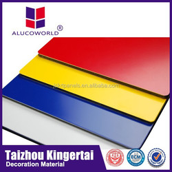 Alucoworld raw material pvdf coated acp standard facade construction material