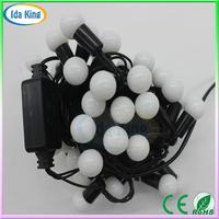 CE/RoHs Waterproof outdoor festoon warm white christmas ball string light