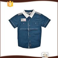 Hot selling lapel anti pilling children boys 100 cotton shirts