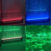 remote RGB Colorful Air Bubble LED Aquarium Light Fish Tank Coral Lamp Tube Hot