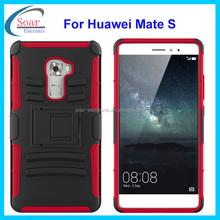 New arrival heavy duty holster hybrid case for Huawei Mate S,dual layer case for Huawei Mate S