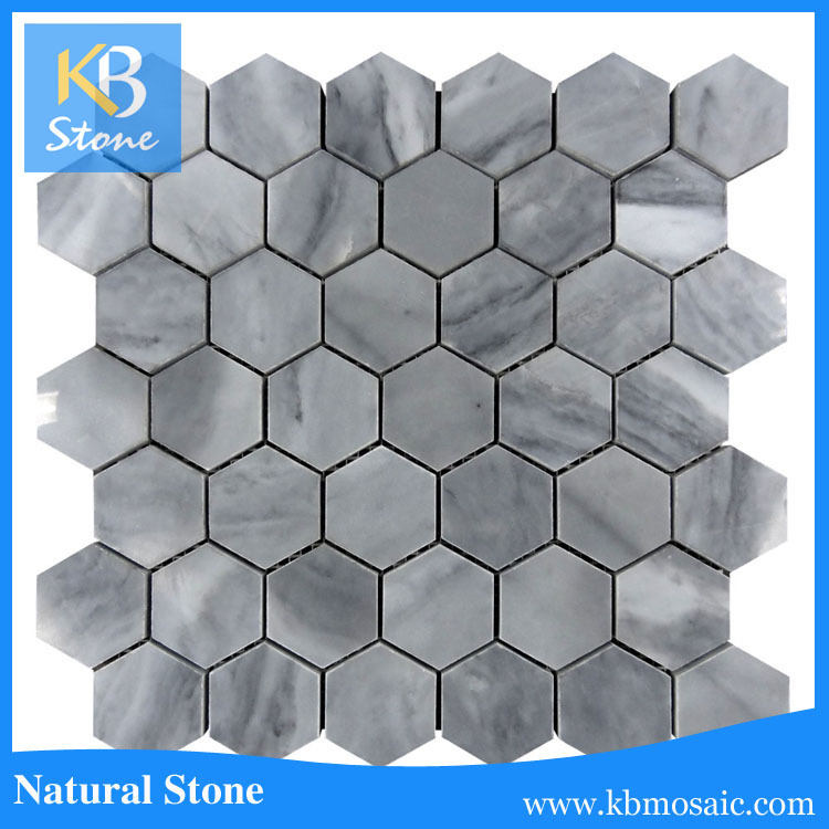 Hexagon mosaic floor tile