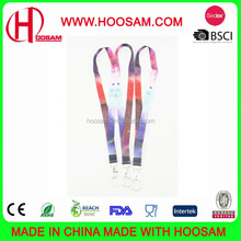 Lanyard with Silkscreen Printing, Made of polyester, Available in Various Printing Ways, Shiny/Colorful