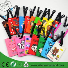 Factory price PVCcartoon photo frames silicone rubber 3D luggage tag