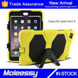 Stand hard case for ipad mini 4 shockproof cover case