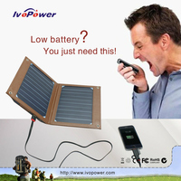 2015 patent outdoor solar charger, mobile solar panel charger with built-in 6000mAh battery 5V 2A USB output power bank