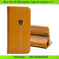 Mobile phone case vintage flip pu leather case for iphone 6 plus 4.7 , for iphone 6 case customize , for iphone 6 customize case