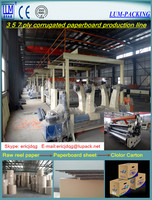 3 5 7 layer High speed corruagted paperboard production line/corrugated cardboard making machine/packaging machinery CE