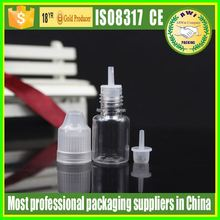 new transparent pet plastic essential oil bottle make in China