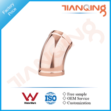T201 Factory price large size pipe fitting copper 45 elbow long radius