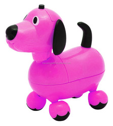 Battery Operated Musical Prancing Pets - Hot Pink Puppy