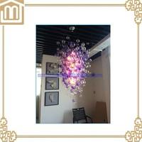Modern Elegent purple hanging murano glass bubble ball ceiling light