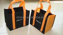 recycable wholesale reusable non woven 6 bottle wine bag