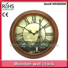 Woodpecker antique wall clock wooden art clock 3d wall clock