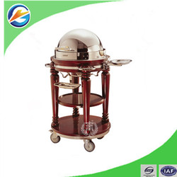 Hotel Luxury Buffet Car/Serving Cart/Restaurant Trolley With Chafing Dish Ware