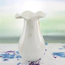 White Art Stemmed Mini Glass Vases Tulip Shaped High Quality Glass Vase