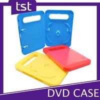 Colorful PP Plastic Single DVD Handle Box