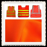 High vision Reflective Stripes Orange Reflective Fabric for Safety Vest fabric