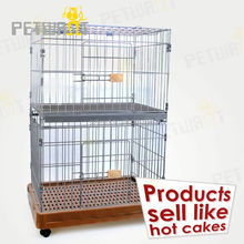 wooden pet cage be made of metal