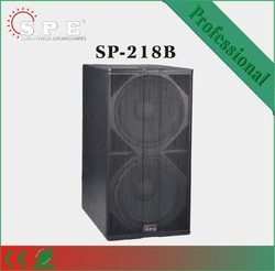 """SP-218B dual 18"""" woofers 1600W powered PA/DJ speaker, plywood cabinet/club/stage/touring speaker subwoofer"""