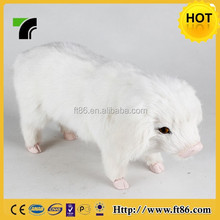 Wholesale chubby pet fur animal props toy lifelike pig