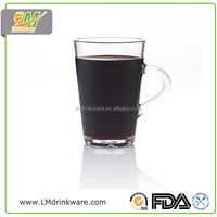 New Products 100 wine glass pc plastic mug 310ML custom drinking glass