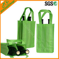 Promotional cheap non woven wine bottle tote bags for 2 bottles