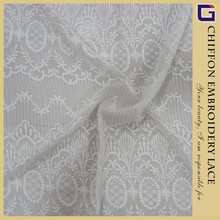 Vintage flower design chiffon swiss lace for dress