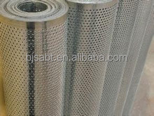 Rolled perforated metal fence for filter stuff
