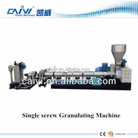 single screw waste plastic film granulating machine