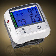 Digital Backlight Wrist Type With CE, FDA Medical Blood Pressure Meter