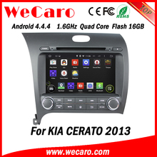 "Wecaro WC-KU8051L 8"" Android 4.4.4 WIFI 3G touch screen car navigation system for kia cerato 2013 car audio dvd player"