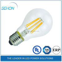 china supplier 360 degrees edison style 4W 6W 8W A19 E27 led filament bulb dimmable