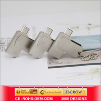 Metal swivel otg usb for Android mobile phone,32gb mini new usb drive Manufacturer &supplier&exporters