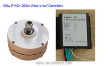 Baixo torque nominal 100 w PMG gerador magnético com controlador / regulador
