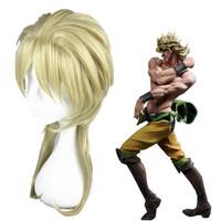wholesale 45cm Short JoJo's Bizarre Adventure-Dio Brando Light Gold Synthetic Anime Cosplay Wig
