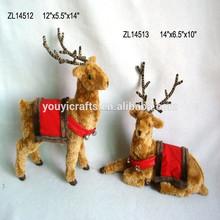 hecho a mano de reno de navidad decoraciones