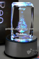 3d laser engrave Christmas crystal ball