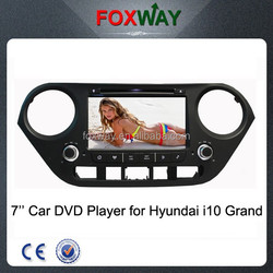 7 inch touch screen 2 din autoradio hyundai i10 grand with car dvd player/gps navigation system/multimedia player