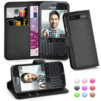 Wallet Leather Moblie Phone Case Cover for Blackberry Classic