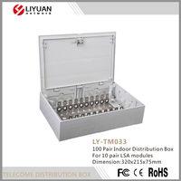 LY-TM033 fiber optic telecom wall cable distribution box / telecom terminal box