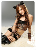 sexy women com bondage /slave costume animal tiger women sex costume QAWC-0164