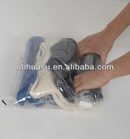 hand press vacuum bags put in suitcases and luggages for travel