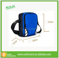 Club football team promotional customized small satchel bag for gifts sports messenger bag for men