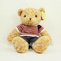 Wholesale custom new design plush sleeping bear toy