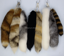 Factory direct sale keychain fox tail