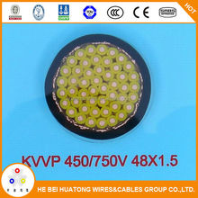 Low voltage multi copper core PVC insulated and sheathed copper-tape shield control cable