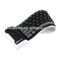 Flexible wireless bluetooth mini keyboard rubber bluetooth keyboard for sll tablet